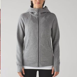 LULULEMON scuba hoodie light cotton fleece in gray